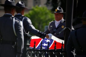 South Carolina's Confederate Flag comes down. NYT photo