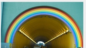 The entrance to the Robin Williams Tunnel