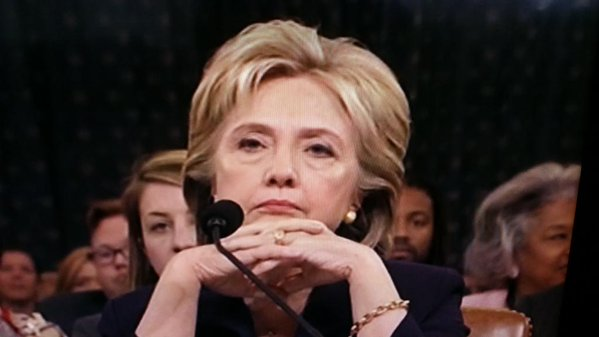 Hillary Clinton before the Benghazi committee.