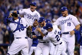 Kansas City Royals celebrate after winning World Series