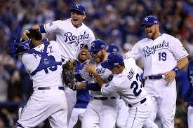 Kansas City Royals celebrate after winning World Series