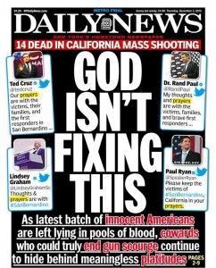 New York Daily News front page this week