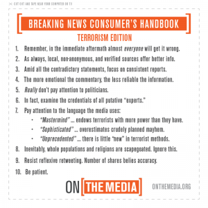 Rules for covering terrorism