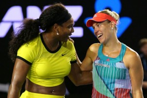 Serena Williams (left) and Angelique Kerber, winner of the Australian Open -Getty Images photo