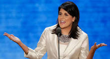 Gov, Nikki Haley of South Carolina