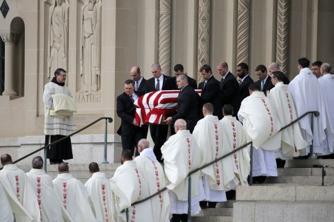 Justice Scalia's funeral, Saturday (Washington Post Photo)