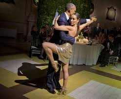 The President dances up a storm in Argentina