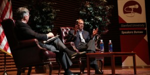 Former Speaker John Boehner at Stanford this week,   (Stanford Daily Photo)