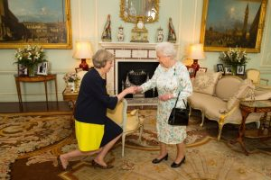 Great Britain's new prime minister to be meets the Queen