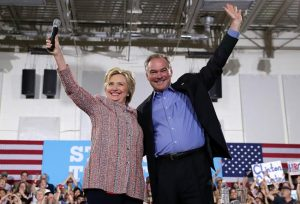 Hillary Clinton and Tim Kaine (Getty Images)