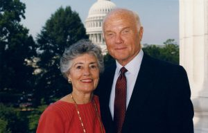 John Glenn and his wife, Anna