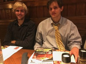 Jack, the graduate (right) and his big brother, Cole, at the post-graduation dinner.