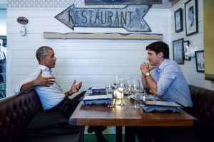 Just two guys,Barack and Justin, having a night out in Montreal.