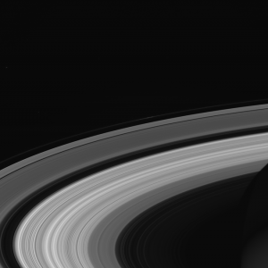Saturn's rings from the Cassini space probe. (NASA photo)