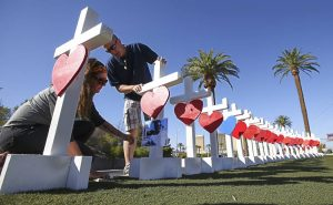 Les Vegas memorial (LV Review Journal photo)