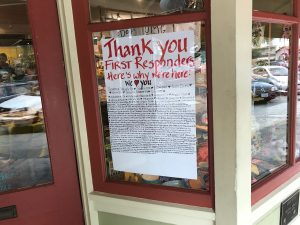 Downtown Sonoma, CA: Open for business and saying thanks