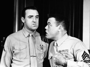 "Jim Nabors, left, and Frank Sutton, on the TV series ""Gomer Pyle, U.S.M.C."" (AP photo)"