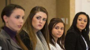 Some of Larry Nassar's victim's. Rachael Denhollander, Sterling Riethman, Kaylee Lorincz, Jeanette Antolin