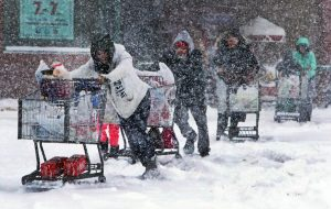 The Northeast digs out. (Boston Globe photo)