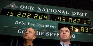 The deficit clock: both sides have thrown in the towel