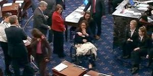 Senator Tammy Duckworth introduces her daughter to the Senate.