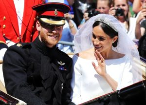 The new Duke and Duchess - a welcome respite from politics. (BBC photo)